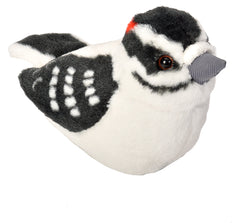 Audubon II Downy Woodpecker Stuffed Animal - 5""
