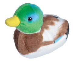 Audubon II Mallard Duck Stuffed Animal with Sound - 5""