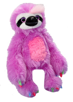 Colorful Sloth Stuffed Animal - 12""