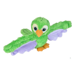 Huggers Green Parrot Stuffed Animal - 8