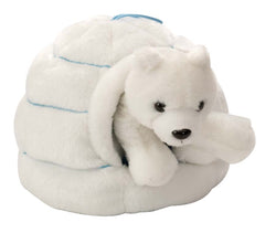 Polar Bear in an Igloo Stuffed Animal