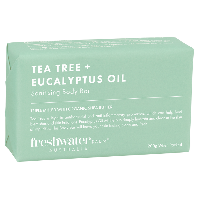 Tea Tree + Eucalyptus Oil Sanitising Body Bar 200g