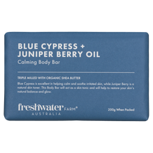 Load image into Gallery viewer, Blue Cypress & Juniper Berry Calming Body Bar Soap