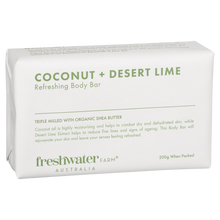 Load image into Gallery viewer, Coconut + Desert Lime Refreshing Body Bar 200g