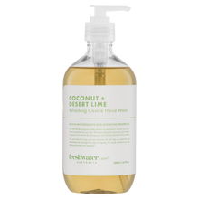 Load image into Gallery viewer, Coconut + Desert Lime Refreshing Castile Hand Wash Clear 500ml