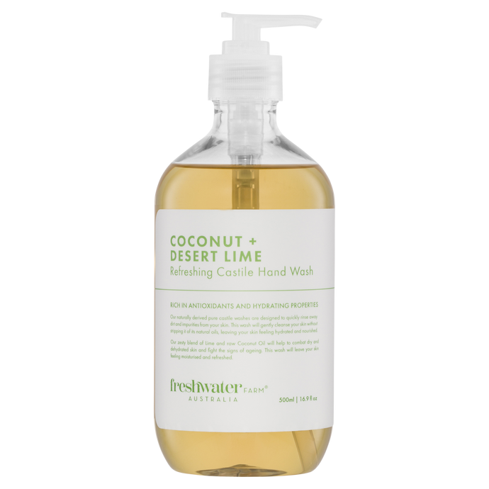 Coconut + Desert Lime Refreshing Castile Hand Wash 500ml
