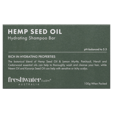 Load image into Gallery viewer, Hemp Seed Oil Hydrating Shampoo Bar 100g