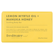 Load image into Gallery viewer, Lemon Myrtle Oil and Manuka Honey Body Bar Soap