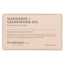 Load image into Gallery viewer, Mandarin and Cedarwood Oil Body Bar Soap