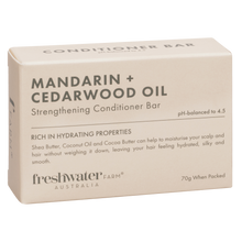 Load image into Gallery viewer, Mandarin + Cedarwood Oil Strengthening Conditioner Bar 70g