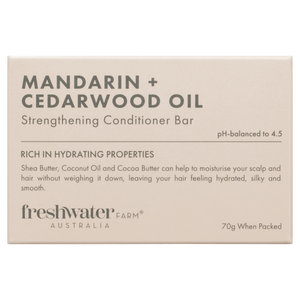 Mandarin + Cedarwood Oil Strengthening Conditioner Bar 70g