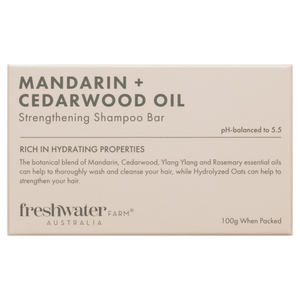 Mandarin + Cedarwood Oil Strengthening Shampoo Bar 100g