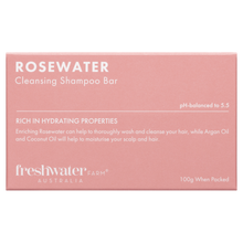 Load image into Gallery viewer, NEW - Rosewater Cleansing Shampoo and Conditioner Bar Set