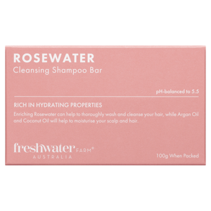 Rosewater Cleansing Shampoo Bar 100g