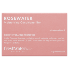 Load image into Gallery viewer, Rosewater Moisturising Conditioner Bar 70g