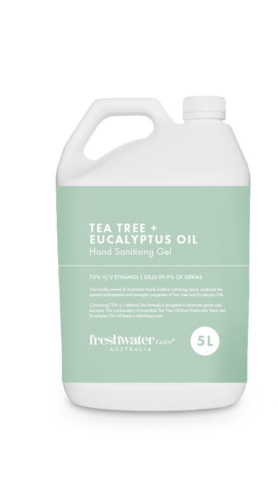 Tea Tree + Eucalyptus Oil Hand Sanitiser Gel 5L Refill