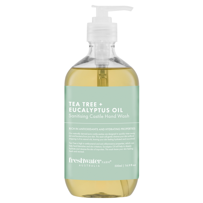 Tea Tree + Eucalyptus Oil Sanitising Castile Hand Wash 500ml