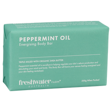 Load image into Gallery viewer, Peppermint Oil 200g Energising Body Bar Soap