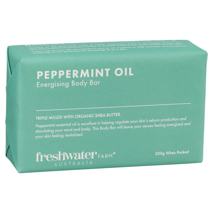 Peppermint Oil 200g Energising Body Bar Soap