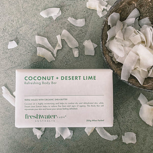 Coconut + Desert Lime Refreshing Body Bar 200g