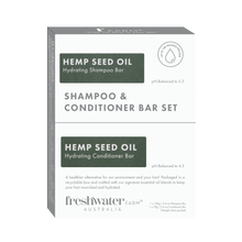 Load image into Gallery viewer, NEW - Hemp Seed Oil Hydrating Shampoo and Conditioner Bar Set