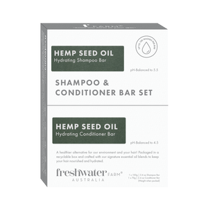 NEW - Hemp Seed Oil Hydrating Shampoo and Conditioner Bar Set