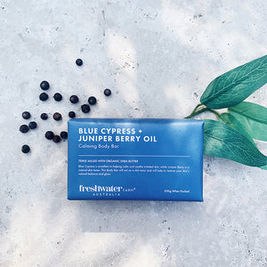 Blue Cypress + Juniper Berry Oil Calming Body Bar 200g
