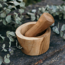 Load image into Gallery viewer, Wooden Mortar and Pestle