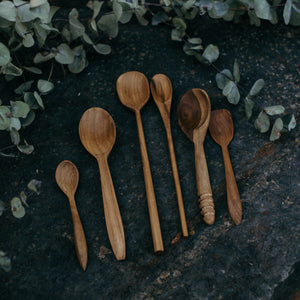 Wooden Natural Spoons (Set of 3)