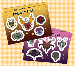 Friendly And Fiendish Faces Sticker Sets Pre-Order