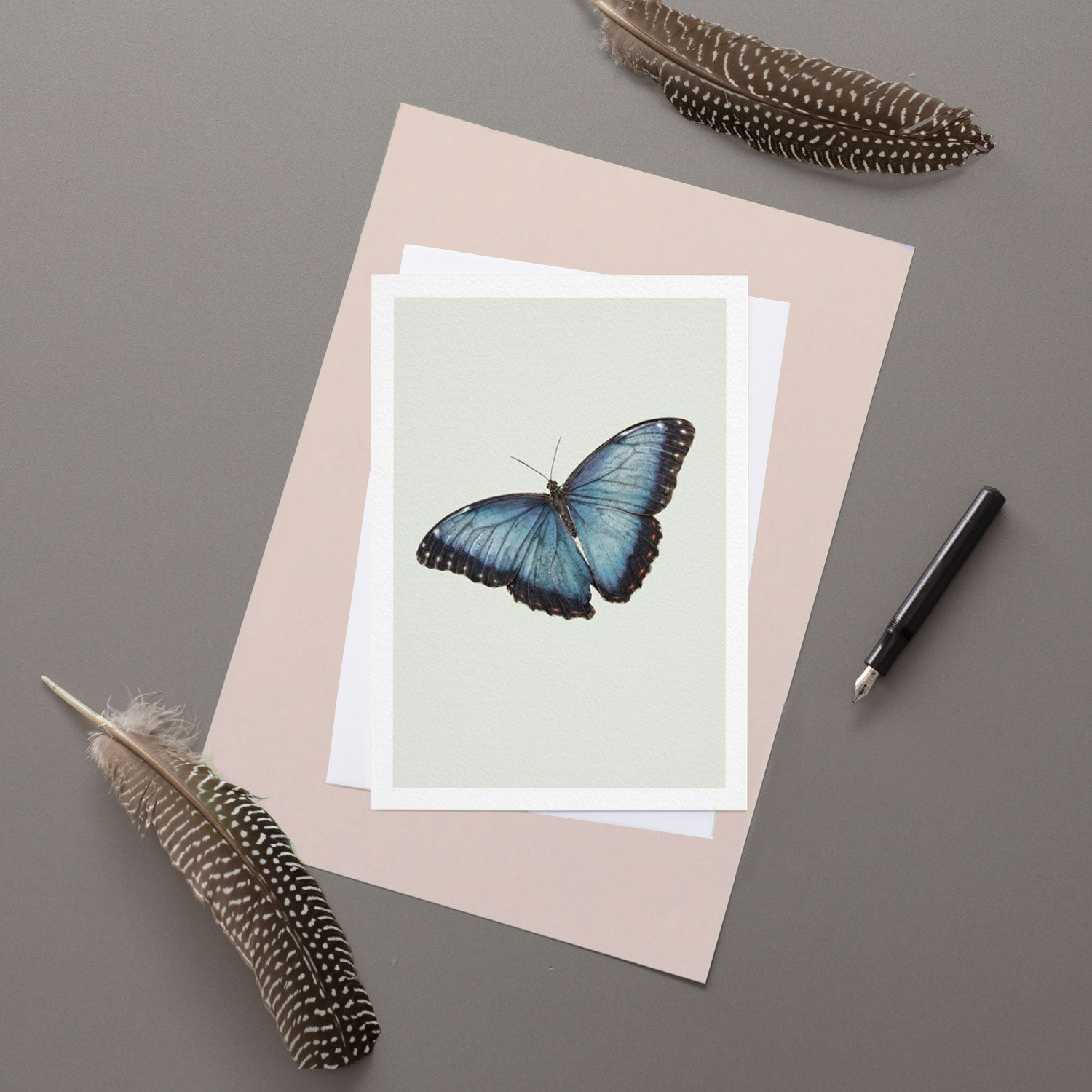 blue Morpho - Greeting Card