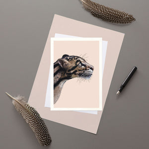 Clouded Leopard - Greeting card