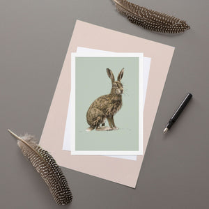 Hare - Greeting Card