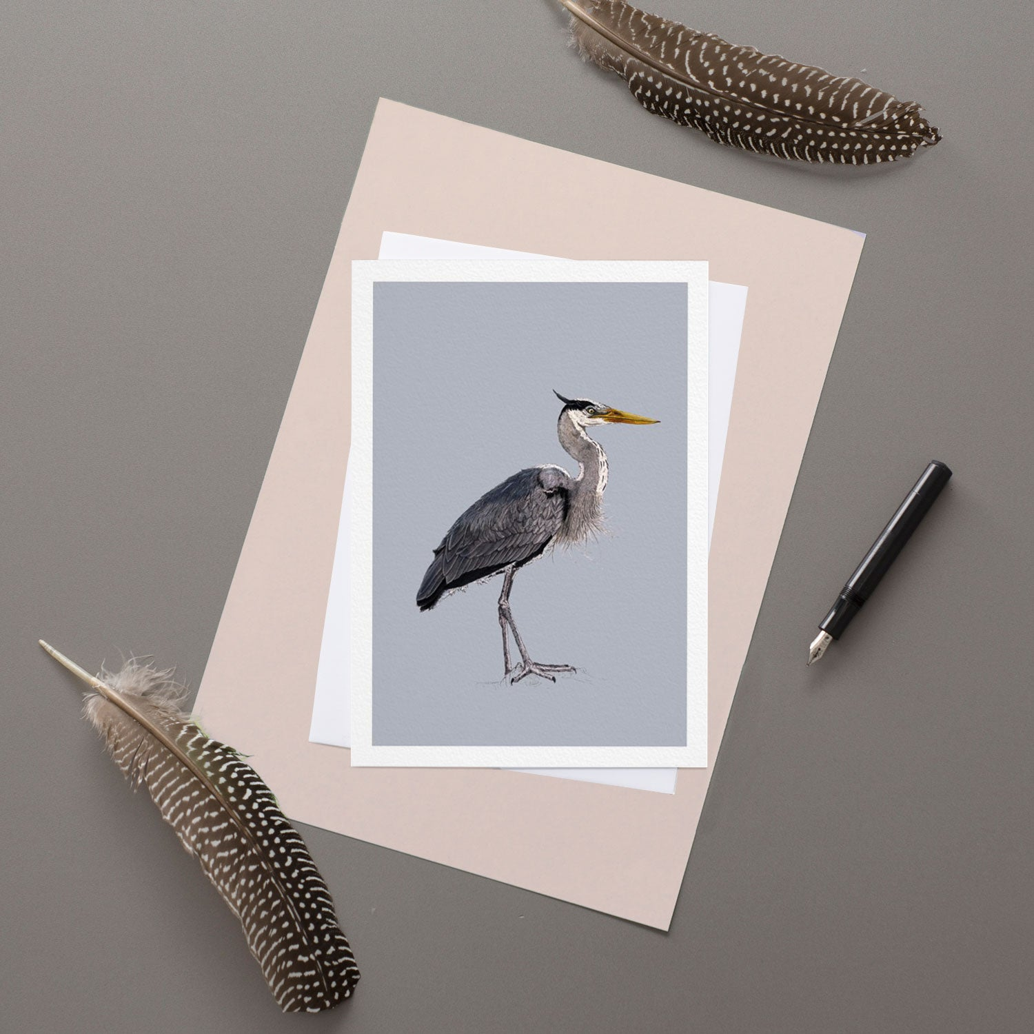 Heron - Greeting Card