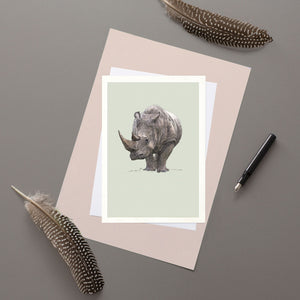 Rhino - Greeting card