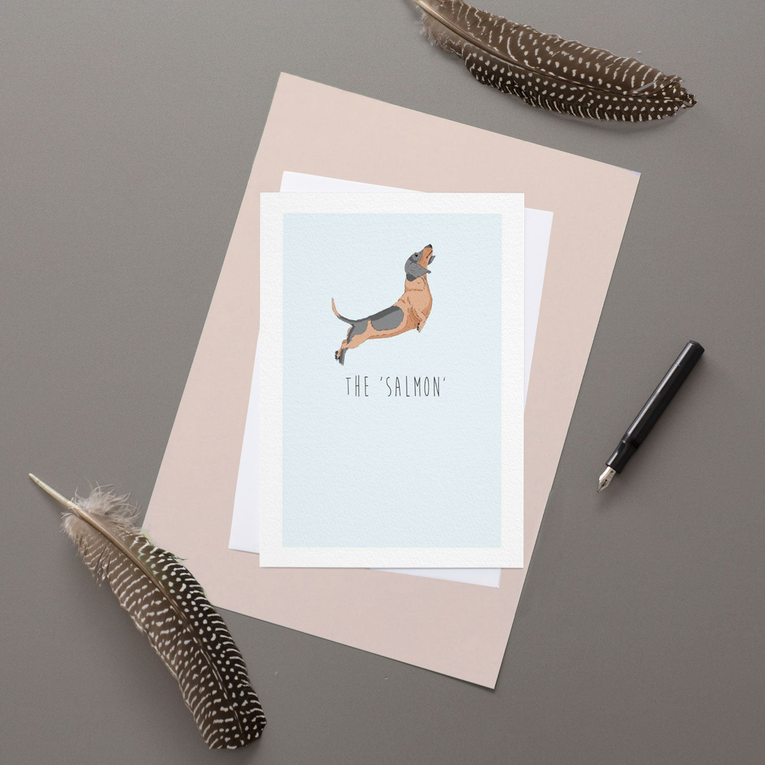Salmon - Greeting Card