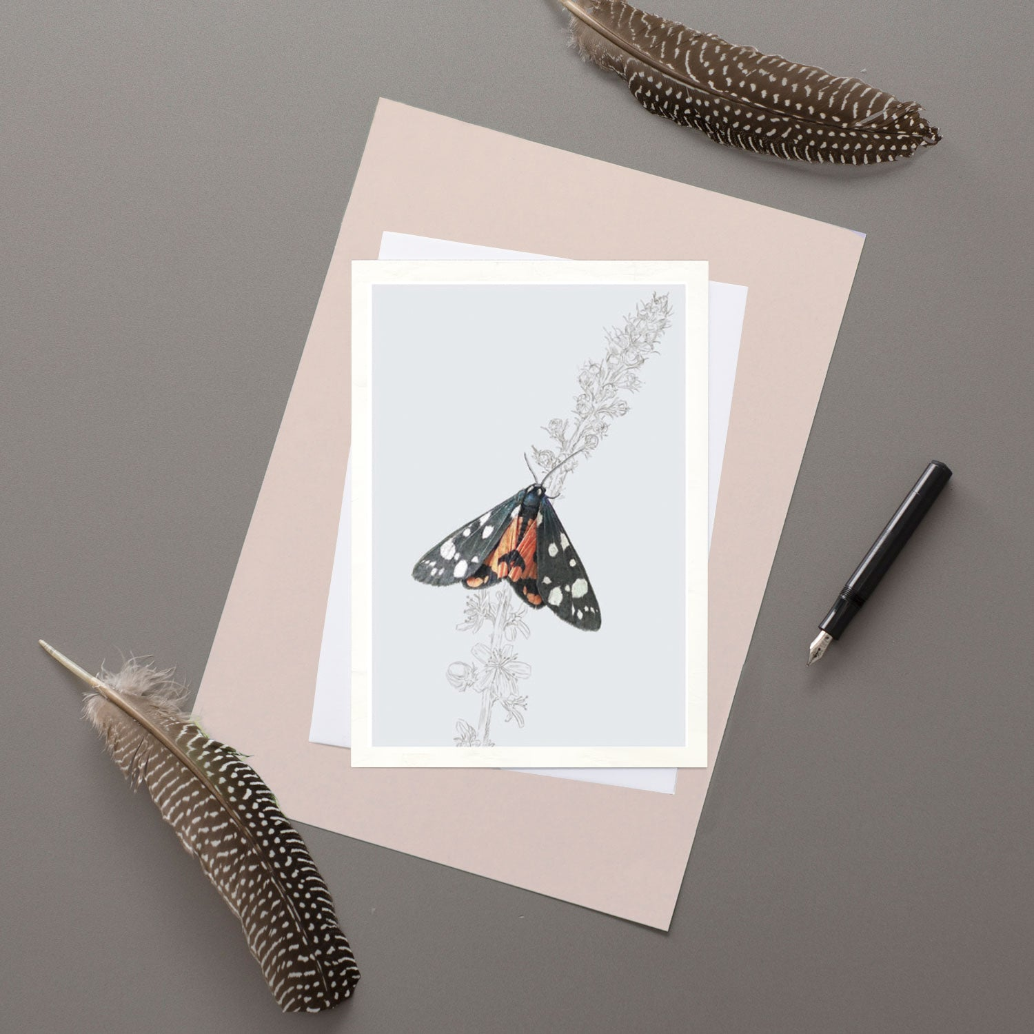 Scarlet Tiger Moth - Greeting card