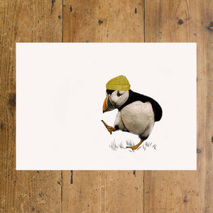 Puffin with Yellow Hat A3