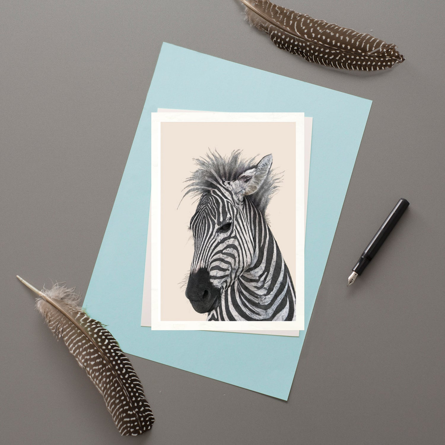 Zebra - Greeting card