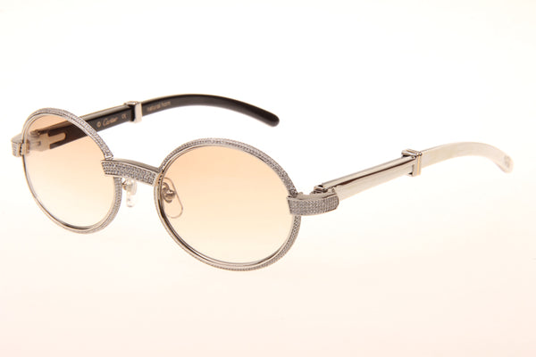 b1d66572772 Custom Iced Out Cartier Sunglasses (White) – myluxshells