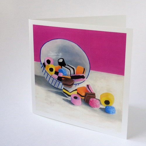 Liquorice Allsorts greeting card.