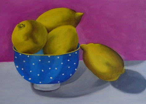 "Four lemons. Oil. 12"" x 10"""