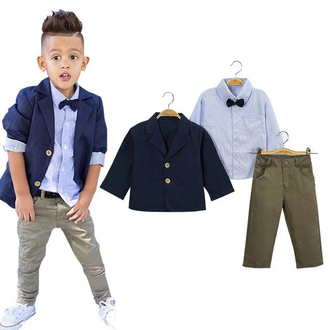 3pcs Clothing Set(T-shirt+Pant+coat Jacket) for Baby Boy( 2-8 Years)