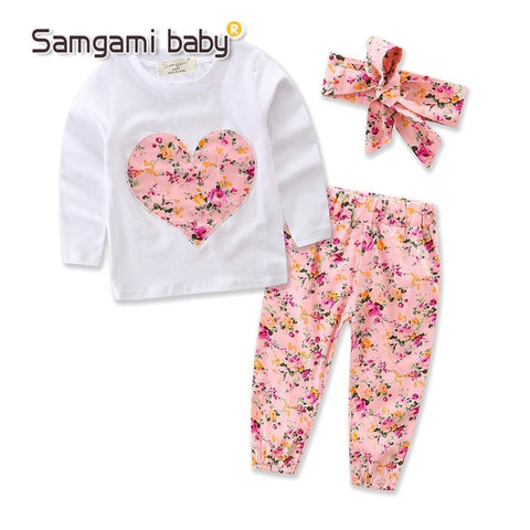 3pcs Baby Girls Clothes