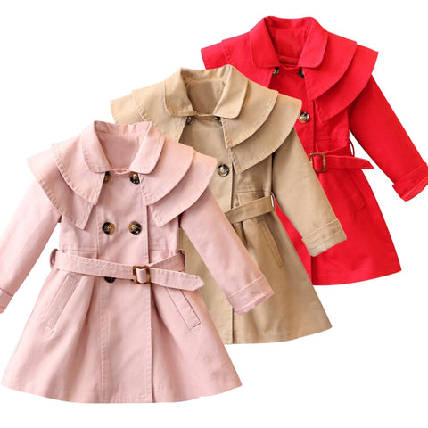 Autumn Winter Jacket for Girls(3-12 Years)