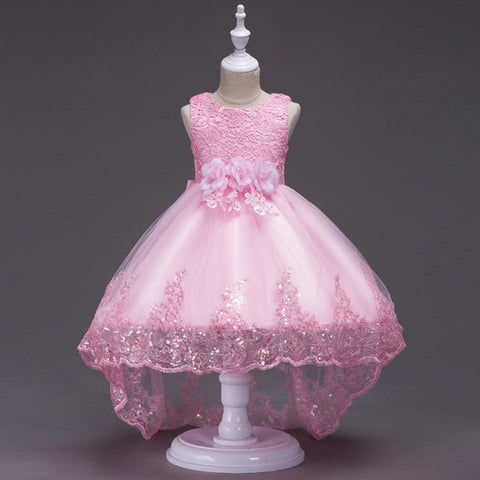 Princess Trailing Flower Dress for Girls (2-12 Years)