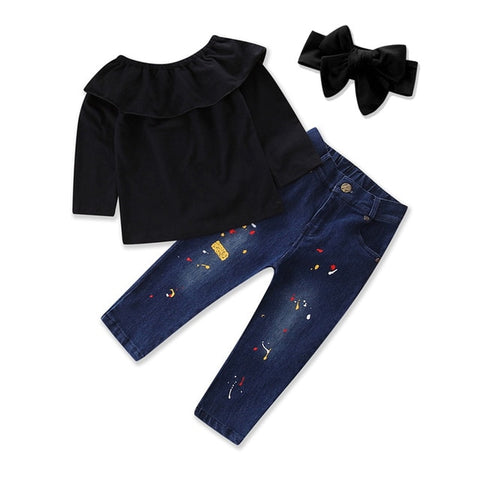 3pcs Clothes Sets For Girls(2-10 years) Spring/Autumn
