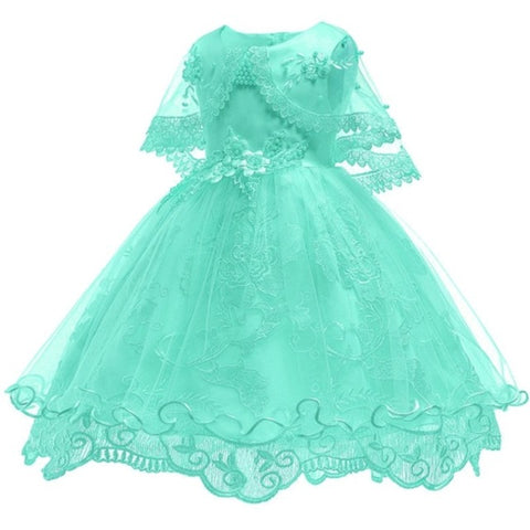 Princess Flower Dress Gown for Girls