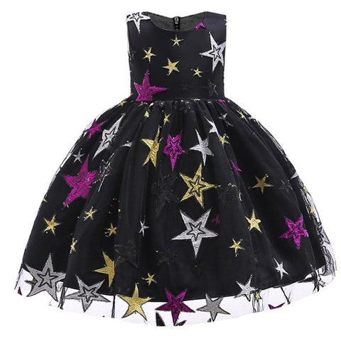 Princess Embroidered Dress Gown for Girls