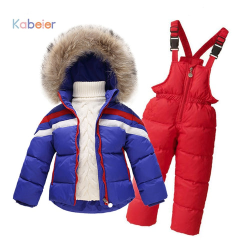 Children Winter Clothing set(Down Jacket Coat + Jumpsuit) - 1 to 6 Years